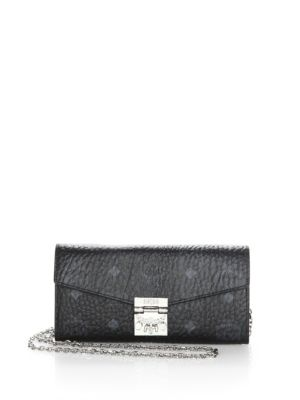 Patricia Logo Printed Convertible Chain Clutch by Mcm