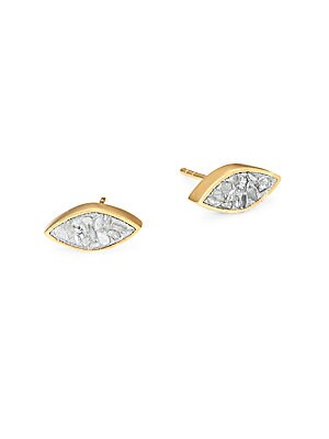 Shana Gulati Banjara Nakiya Sliced Raw Diamond Stud Earrings