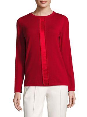 Sfringy Wool Sweater by Escada