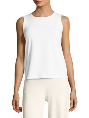 Solid Cotton Tank Top by Eileen Fisher