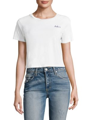 Babe Cotton Crop Tee by AMO