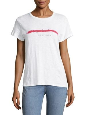 The Scratched Out Logo Cotton Tee by rag & bone/JEAN