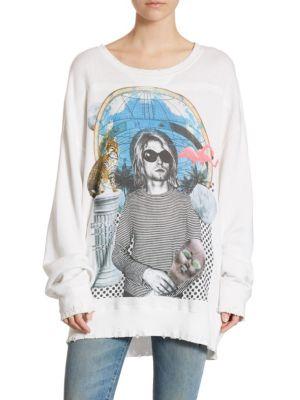 Kurt Cobain Oversized-Fit Cotton Sweatshirt by R13
