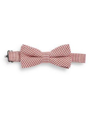 Little Boys  Boys Classic Houndstooth Cotton Bow Tie