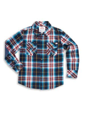 Toddlers Little Boys  Boys Flannel Cotton Collared Shirt
