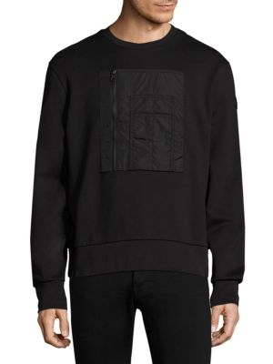 Moncler Cottons Roundneck Patch Sweatshirt