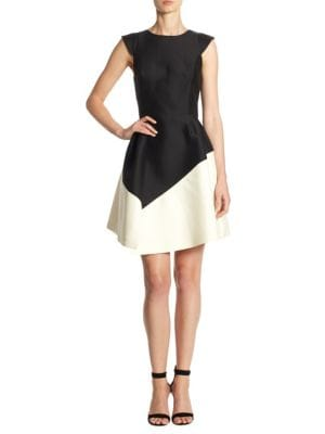 Buy Halston Heritage Colorblock Fit & Flare Dress online with Australia wide shipping