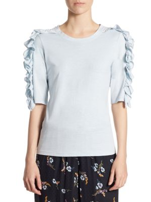 Vintage Ruffle-Sleeve Top by Rebecca Taylor