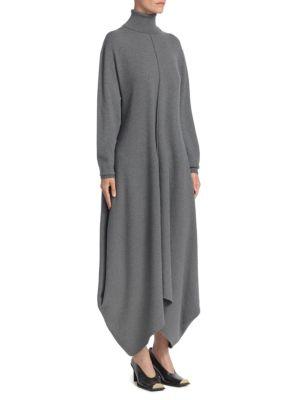 Felted Wool Turtleneck Dress