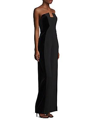 10b216c1384 Black Halo - Lena Velvet Strapless Jumpsuit - saks.com