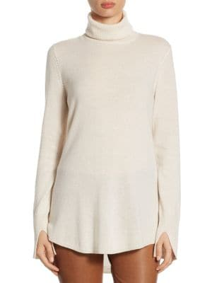 Cowl Back Tunic Sweater by Halston Heritage
