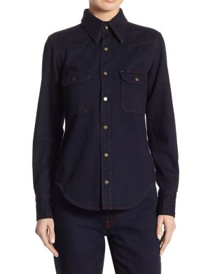 Denim Button-Front Shirt by CALVIN KLEIN 205W39NYC