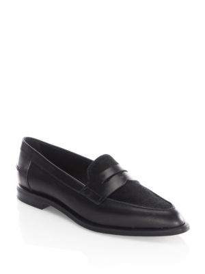 Tod's Real Calf Fur Pointy Penny Loafer