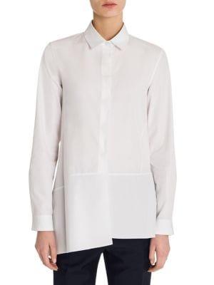 Diana Button-Front Shirt by Jil Sander
