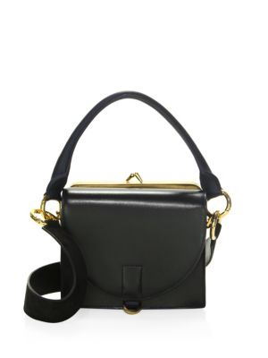 Hybrid Small Leather Coin Purse Satchel by Sacai