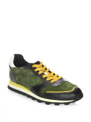Coach  Leather Running Shoes