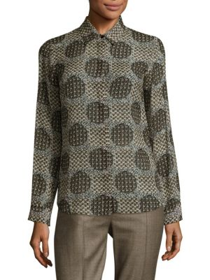 Tandem Textured Silk Blouse by Max Mara