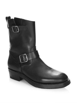 Coach  Moto Leather Mid-Calf Boots