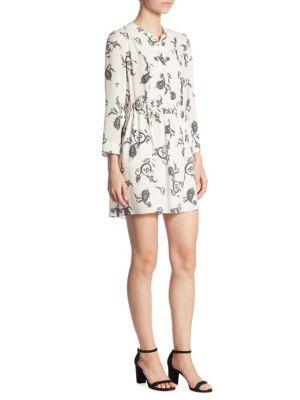 Buy A.L.C. Hazel Paisley Print Silk Dress online with Australia wide shipping