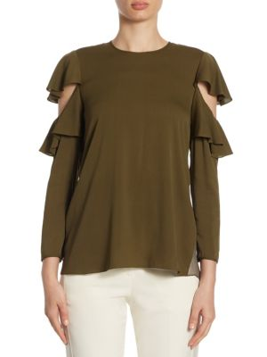 Ruffle Top by Halston Heritage