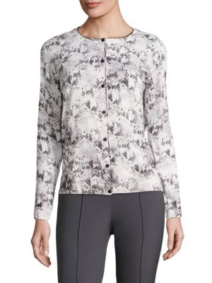 Sofia Printed Wool Cardigan by Escada Sport