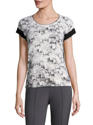 Soey Abstract Wool Top by Escada Sport