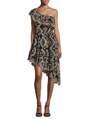 Buy LOVESHACKFANCY Pamela One Shoulder Party Cotton Dress online with Australia wide shipping