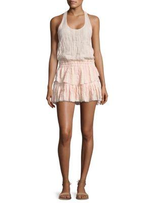 Ruffle Racer Mini Dress