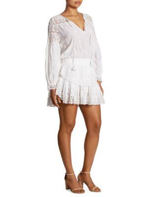 Prairie Popover Cotton Lace Dress