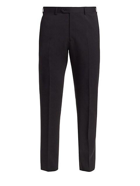 Solid Wool Pants