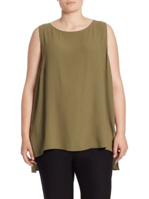 Silk Georgette Sleeveless Top by Eileen Fisher, Plus Size