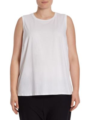 Skinny Roundneck Tank Top by Eileen Fisher, Plus Size