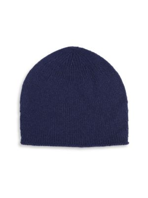 Image of .Cashmere beanie made with allover knitted design. .Cashmere. .Dry clean. .Imported. .