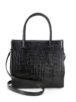 Nancy Gonzalez  Bolt Crocodile Top Handle Bag