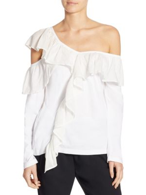Ruffled Off the Shoulder Top by Clu