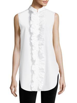 Sleeveless Poplin Cotton Blouse by FRAME
