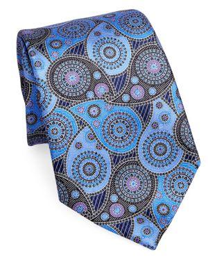Paisley Printed Silk Tie by Ermenegildo Zegna