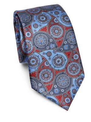 Large Paisley Silk Classic Tie by Ermenegildo Zegna