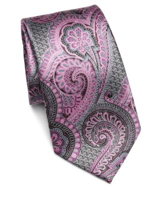 Exploded Paisley Silk Tie by Ermenegildo Zegna