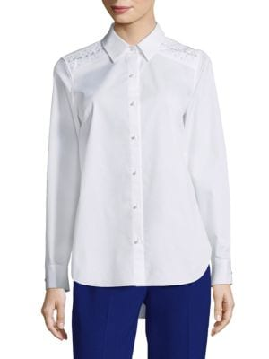 Alina Point Collared Blouse by Elie Tahari