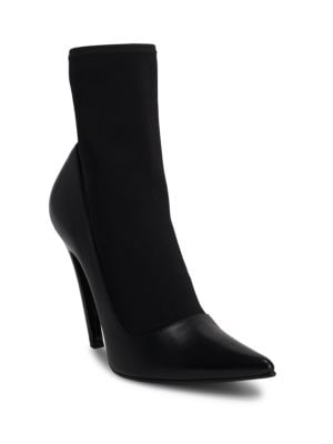 Ladies Black Knife 110 Spandex Heeled Ankle Boots, Noir