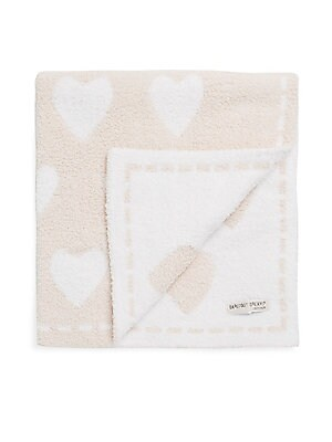"Image of Cover your little once in this comfy fabric printed star shapes in soothing pastels with reversible blanket 30""W x 30""L Polyester microfiber Machine wash Imported. Children's Wear - Layette Apparel And Acce. Barefoot Dreams. Color: Pink."