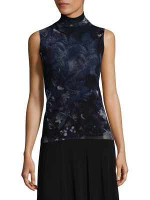 Turtleneck Floral Top by Fuzzi
