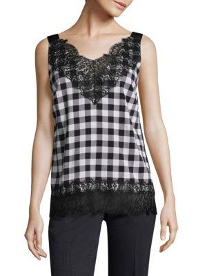 Iminka Checkered Blouse by BOSS