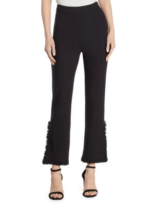 Cropped Bell Trousers, Black