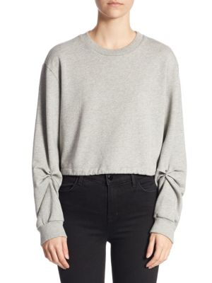 Long Sleeve Cotton Cropped Top by 3.1 Phillip Lim