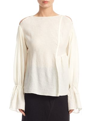 Cold Shoulder Bell Sleeve Top by 3.1 Phillip Lim