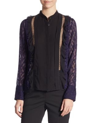 Long Sleeve Fil Coupe Top by 3.1 Phillip Lim