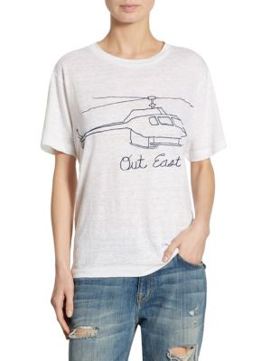 Out East Chopper Linen T-Shirt by Banner Day