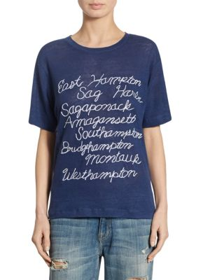 Hamptons Towns Linen T-Shirt by Banner Day